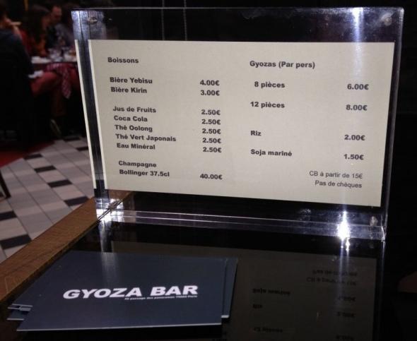 Gyoza Bar Paris 2
