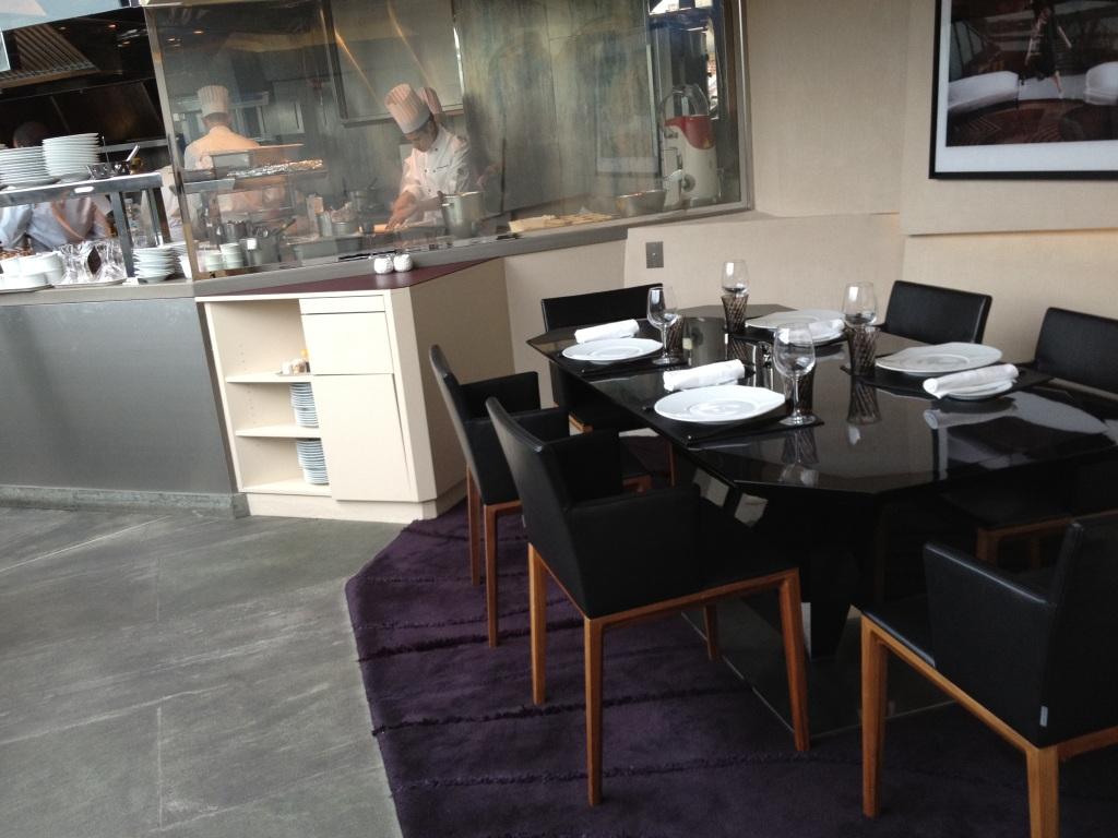 Le 39V restaurant table du chef