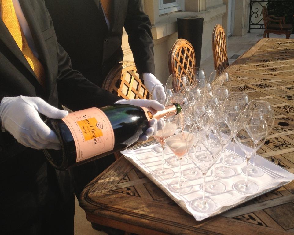 Veuve Clicquot hotel de marc rose