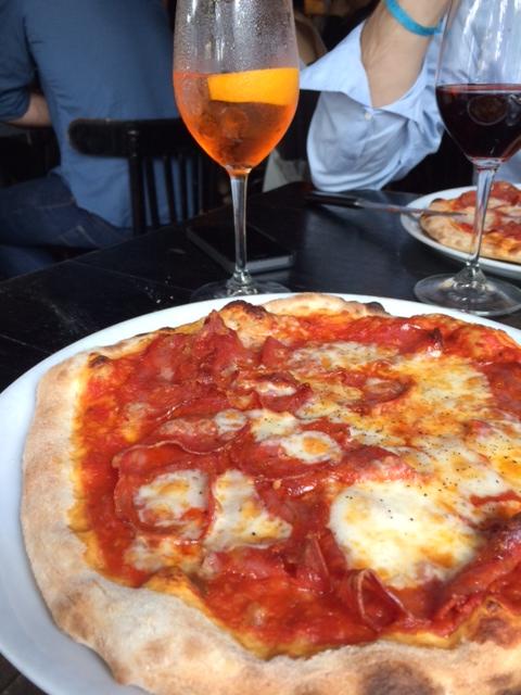 Pizza chez Grazie le dimanche