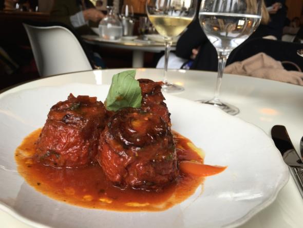 Lou Lou restaurant Paris tomates farcies